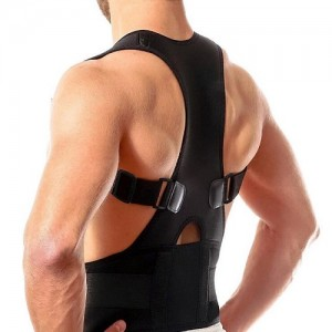 Magnetic lumbar lower back brace posture corrector support belt