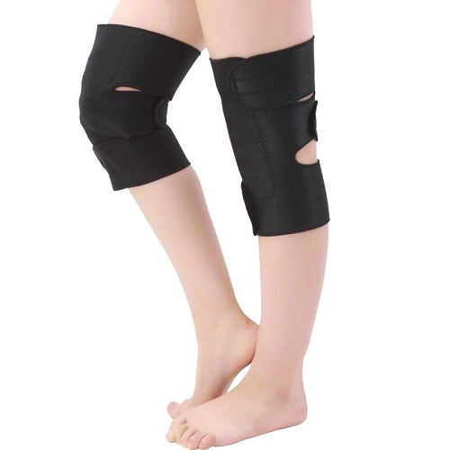 Neoprene tourmaline heated knee pads